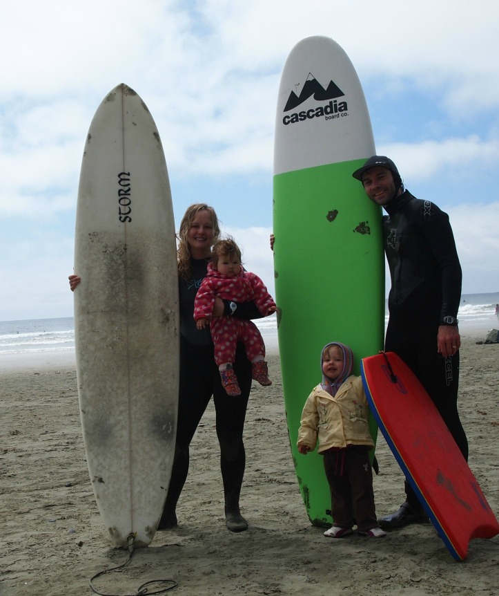 Family Surf Video at the Beach.