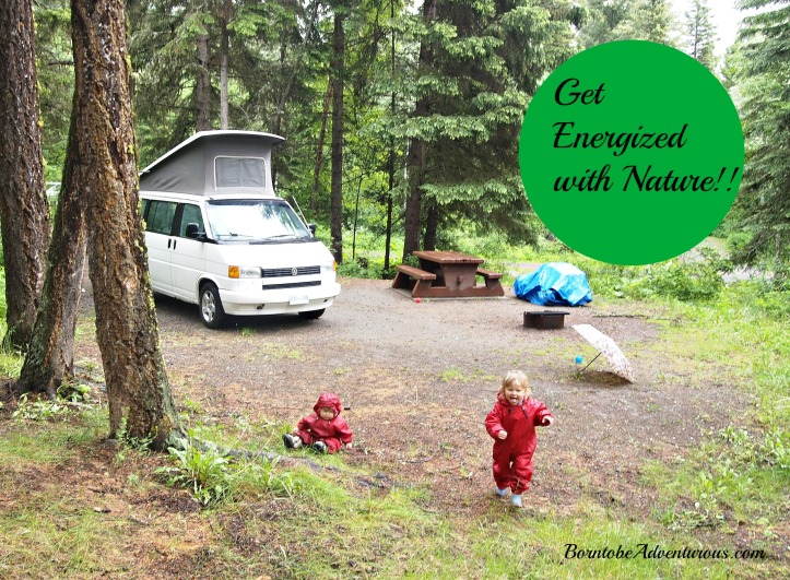 VW Campervan family camping