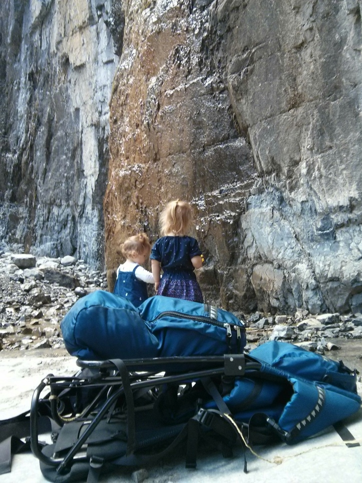 toddlers hiking