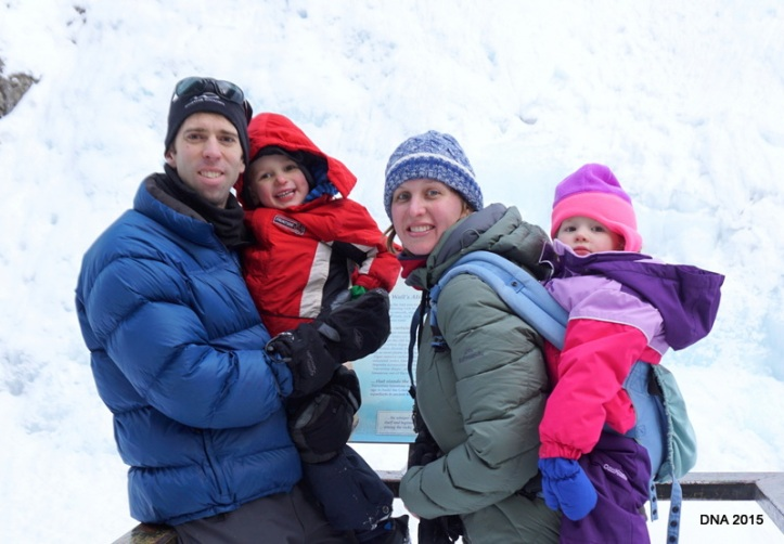 Family in the canadian rockies